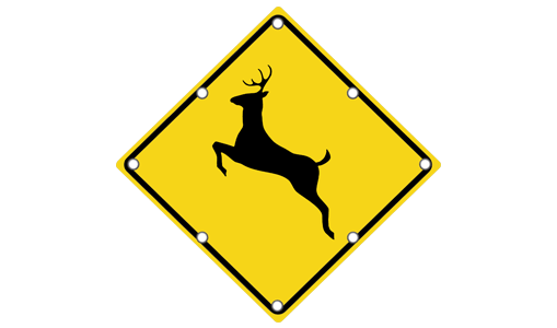 Flashing Deer Crossing Sign
