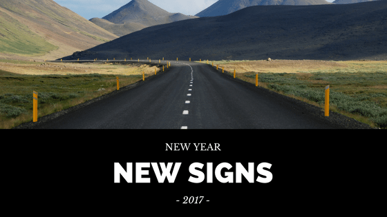 2017 New Signs