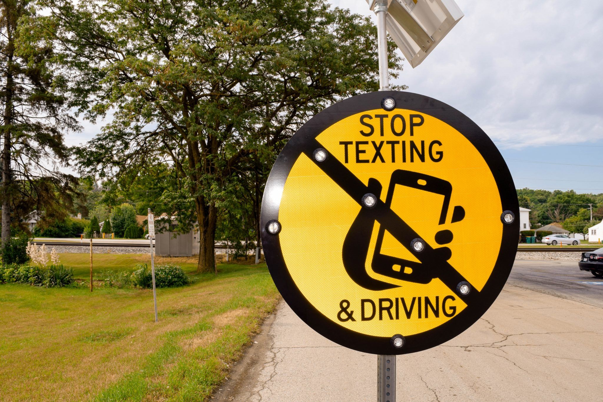 Custom Sign: Stop Texting & Driving