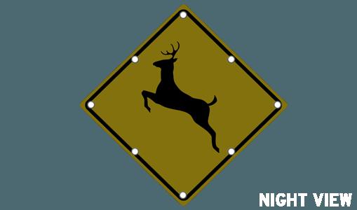 Flashing Deer Crossing Sign Solar Traffic Systems Inc