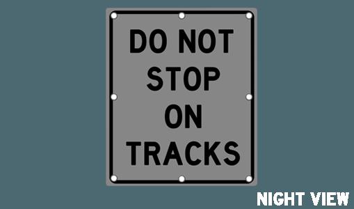 Flashing Do Not Stop On Tracks Sign R8 8 Solar Traffic
