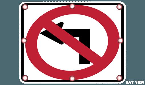 Flashing Circular Warning Sign Solar Traffic Systems Inc