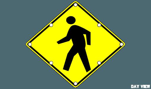 Flashing Pedestrian Crossing Signs