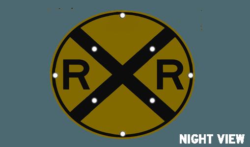 Flashing Grade Crossing Advance Warning Sign W10 1
