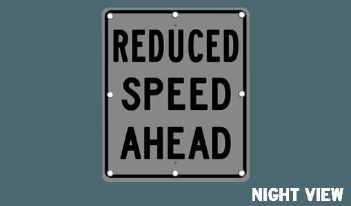 Flashing Reduced Speed Ahead Sign Solar Traffic Solar