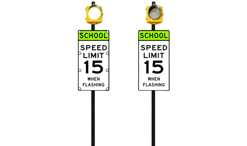 School Zone Single Beacon