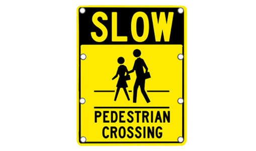 flashing slow pedestrian crossing sign solar traffic solar