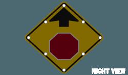 Flashing Stop Ahead Sign W3 1 Solar Traffic Systems Inc