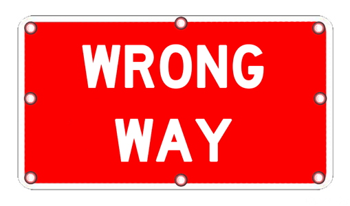 Flashing Wrong Way Sign R5 1a Solar Traffic Systems