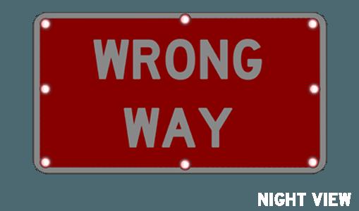flashing wrong way sign r5 1a solar traffic systems inc solar
