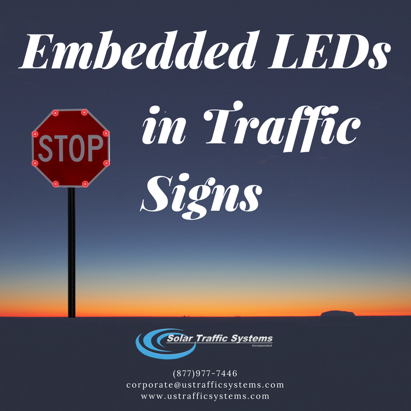 Embedded Leds In Traffic Signs Solar Traffic Systems Inc