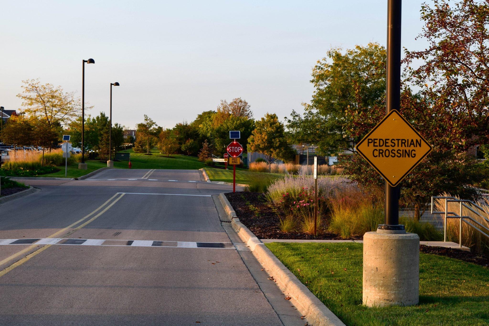 Solar Stop Signs At Delnor Hospital Solar Traffic