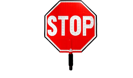 Flashing Hand-Held Stop Signs