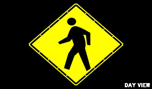 "Sale - 48"" Pedestrian Sign"
