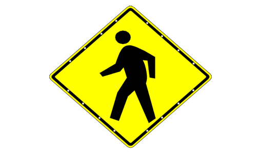 "Sale - 48"" Pedestrian Sign"