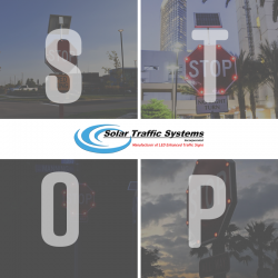 LED Enhanced Stop Sign