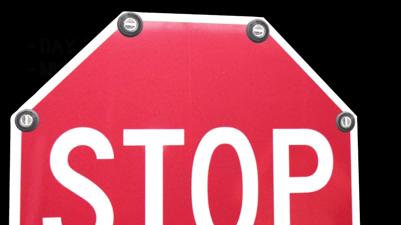 Flashing Led Enhanced Stop Sign With Solar Traffic Systems